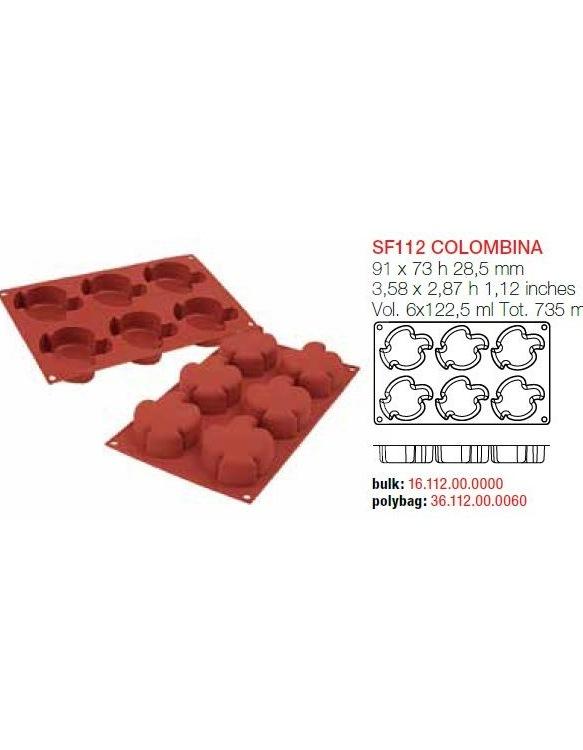 Moule en Silicone 6 Colombes ~ 9,1 cm