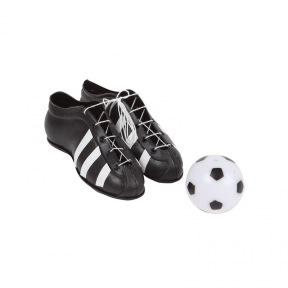 Figurine Chaussures de Football et Ballon ~ 10 cm