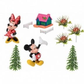 Kit Figurines Mickey Minnie Mouse Maison
